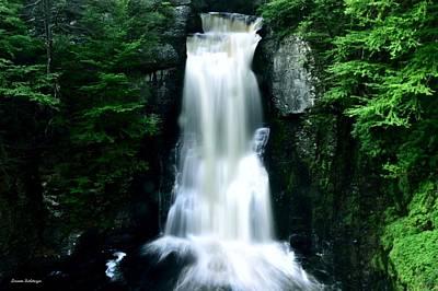 Fall Photograph - Bridal Veil Falls At Bushkill Falls by Srinivasan Venkatarajan