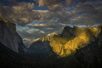 Photograph - Bridal Veil Falls At Sunset by Constance Reid