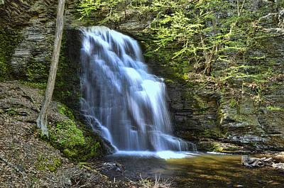 Photograph - Bridal Veil Falls - Bushkill Falls Pa by Allen Beatty