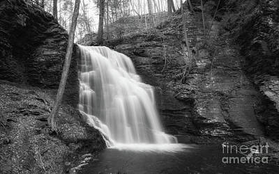 Photograph - Bridal Veil Falls Bw  by Michael Ver Sprill