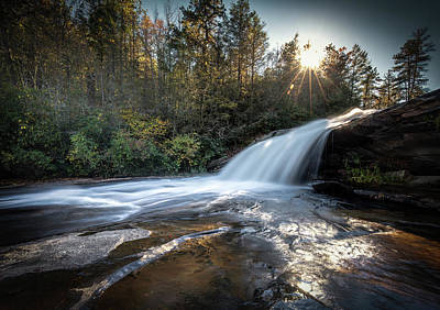 Photograph - Bridal Veil Falls In Dupont State Forest by Donnie Whitaker