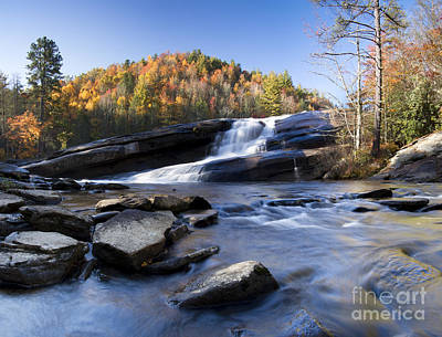 Fall Colors Photograph - Bridal Veil Falls In Dupont State Park Nc by Dustin K Ryan