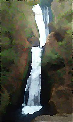 Bridal Veil Falls Painting - Bridal Veil Falls by Jeff Comer