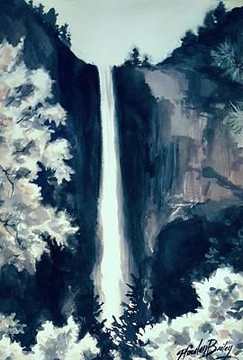 Bridal Veil Falls Love Art Print by Therese Fowler-Bailey
