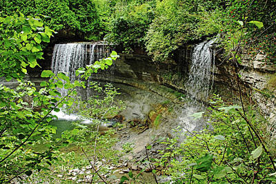 Photograph - Bridal Veil Falls Manitoulin Island by Debbie Oppermann