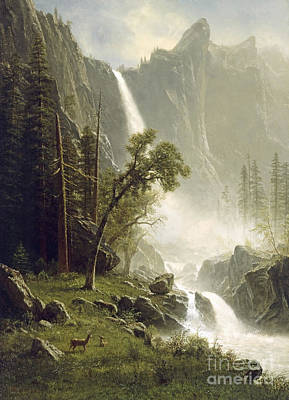 Yosemite Painting - Bridal Veil Falls by MotionAge Designs