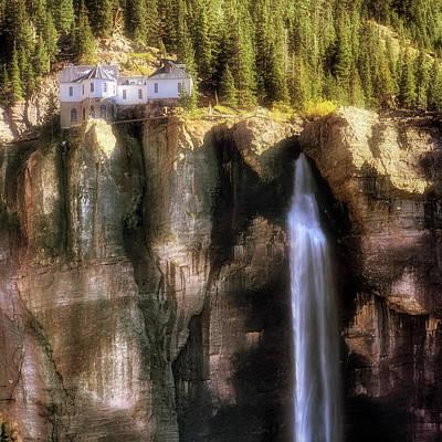 Art Print featuring the photograph Bridal Veil Falls Power Plant - Telluride - Colorado by Jason Politte