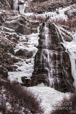 Photograph - Bridal Veil Falls Provo Canyon by David Millenheft
