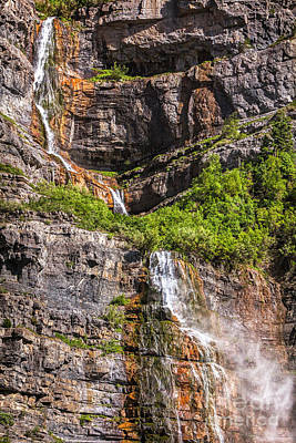 Photograph - Bridal Veil Falls Provo Utah 8 by David Millenheft