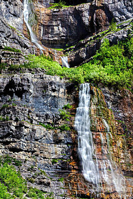Photograph - Bridal Veil Falls Provo Utah by David Millenheft