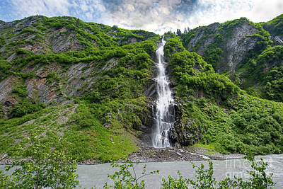 Photograph - Bridal Veil Falls Valdez Alaska by David Arment
