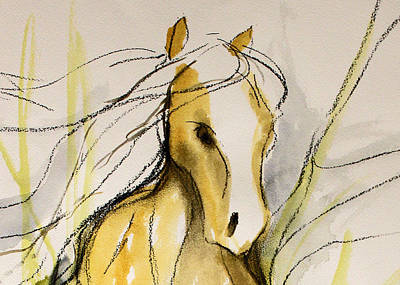 Sporthorse Mixed Media - Bridal Veil by Jennifer Fosgate