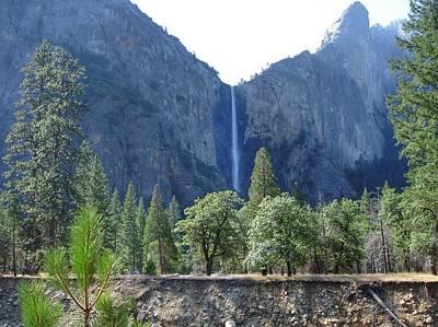 Painting - Bridal Veil Yosemite by Anne Sands
