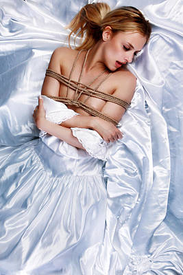 Fetish Photograph - Bridal/wedding Sensual Rope - Fine Art Of Bondage by Rod Meier