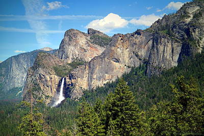 Photograph - Bridalveil Falls From Tunnel View by Joyce Dickens