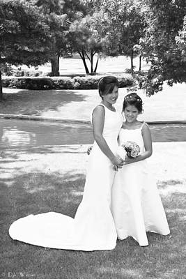 Photograph - Bride And Flower Girl by Dyle Warren