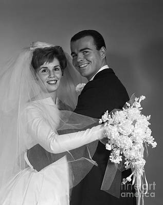 Photograph - Bride And Groom, C.1960s by H. Armstrong Roberts/ClassicStock