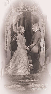 Alter Photograph - Bride And Groom Exchanging Vows On At Alter by Jorgo Photography - Wall Art Gallery