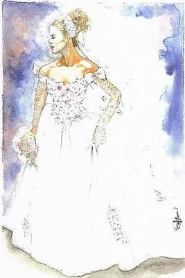 Painting - Bride by Cecill Woods