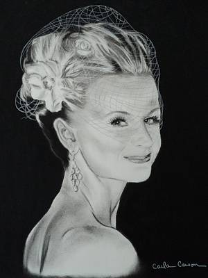 Drawing - Bride Jacqueline by Carla Carson