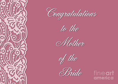 Digital Art - Bride Mother's Lace by JH Designs