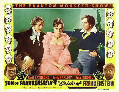 Frankenstein Mixed Media - Bride Of Frankenstein 1935 by Mountain Dreams