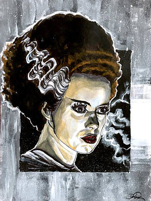 Painting - Bride Of Frankenstein by Joel Tesch