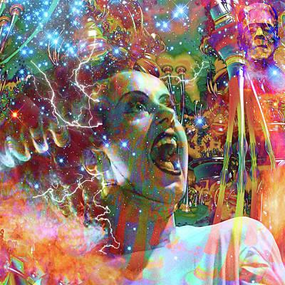 Digital Art - Bride Of Frankenstein by Matthew Lacey