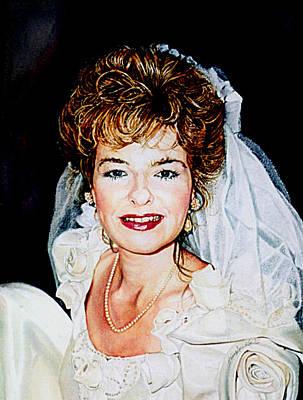 Hand-painted Portraits Painting - Bride Portrait by Hanne Lore Koehler