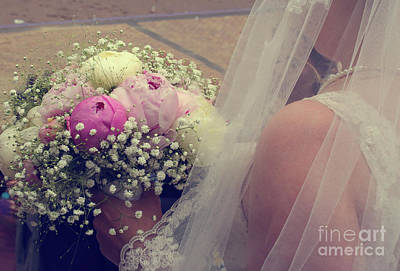 Photograph - Bride With Bouquet by Patricia Hofmeester