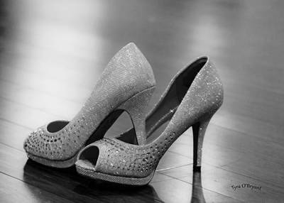 Photograph - Bride's High Heel Shoes by Tyra OBryant