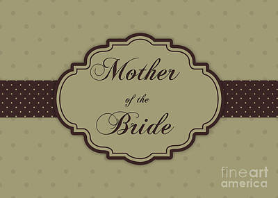 Digital Art - Bride's Mother Brown Polka Dot by JH Designs