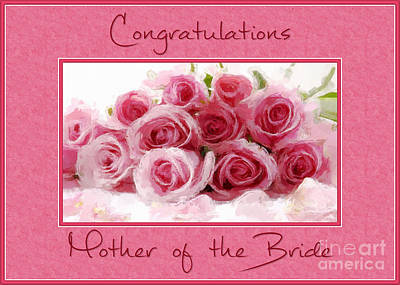 Digital Art - Bride's Mother's Pink Bouquet by JH Designs
