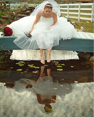 Brides Reflection Art Print by Ken Gimmi