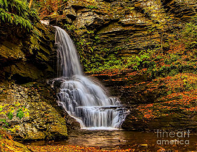 Photograph - Bridesmaid Falls- Bushkill Pa by Nick Zelinsky