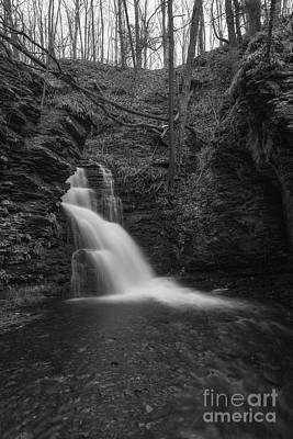 Photograph - Bridesmaid Falls Bw  by Michael Ver Sprill