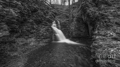 Photograph - Bridesmaid Falls Pano Bw by Michael Ver Sprill