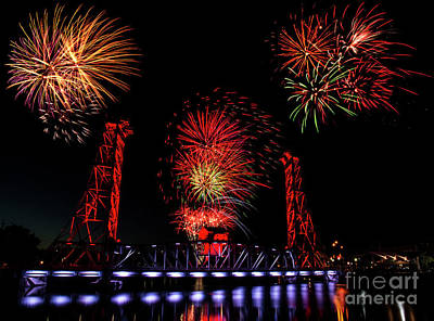 Photograph - Bridge 13 Canada Day by JT Lewis