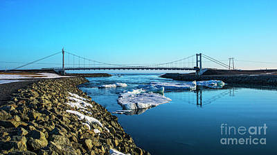 Photograph -  Bridge Across The Ice Lagoon by Chris Thaxter