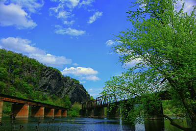 Photograph - Bridge Across The Potomac River In Harpers Ferry West Virginia by Raymond Salani III