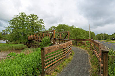 Photograph - Bridge Along Lewis And Clark Hiking Trail  by David Gn