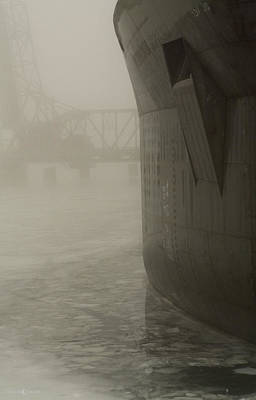 Photograph - Bridge And Barge by Tim Nyberg