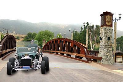 Photograph - Bridge And Bucket by Bill Dutting