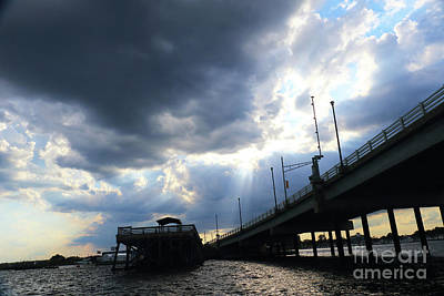 Photograph - Bridge And Clouds by Mary Haber