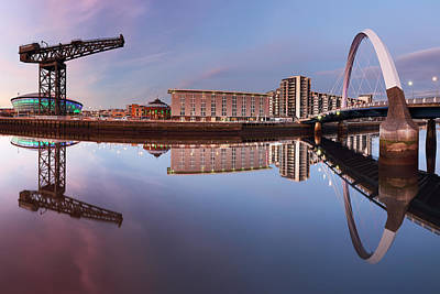Photograph - Bridge And Crane by Grant Glendinning