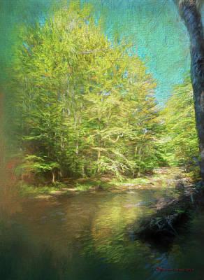 Bridge And Creek Art Print