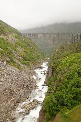 Photograph - Bridge And Rapids by Bj Hodges