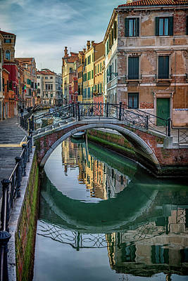 Photograph - Bridge And Reflection Venice_dsc4834_03032017 by Greg Kluempers