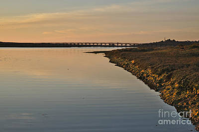 Bridge And Ria At Sunset In Quinta Do Lago Art Print