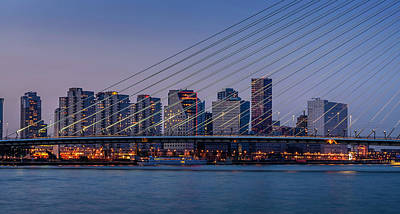 Photograph - Bridge And Skyline by Alexandre Rotenberg
